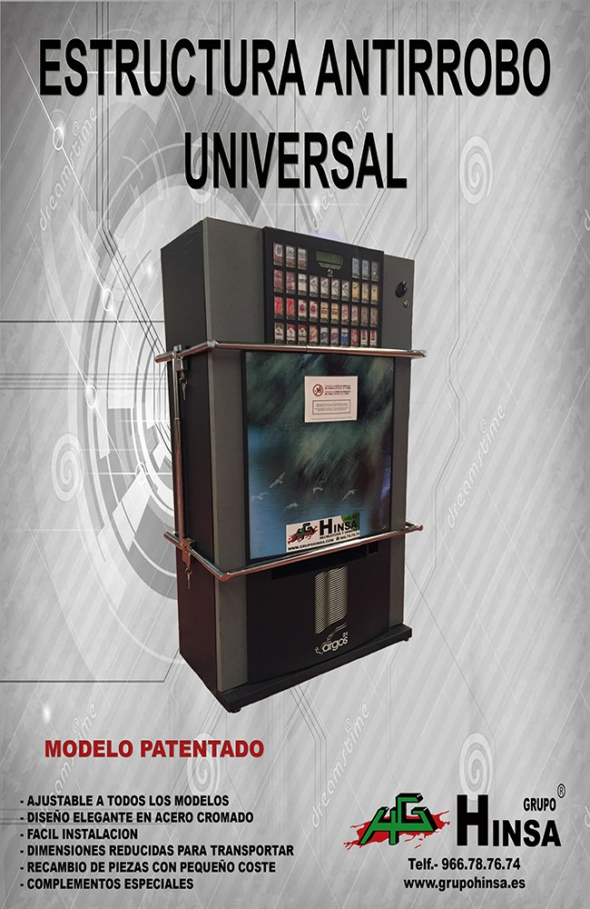estructura antirobo universal - seguridad para maquinas