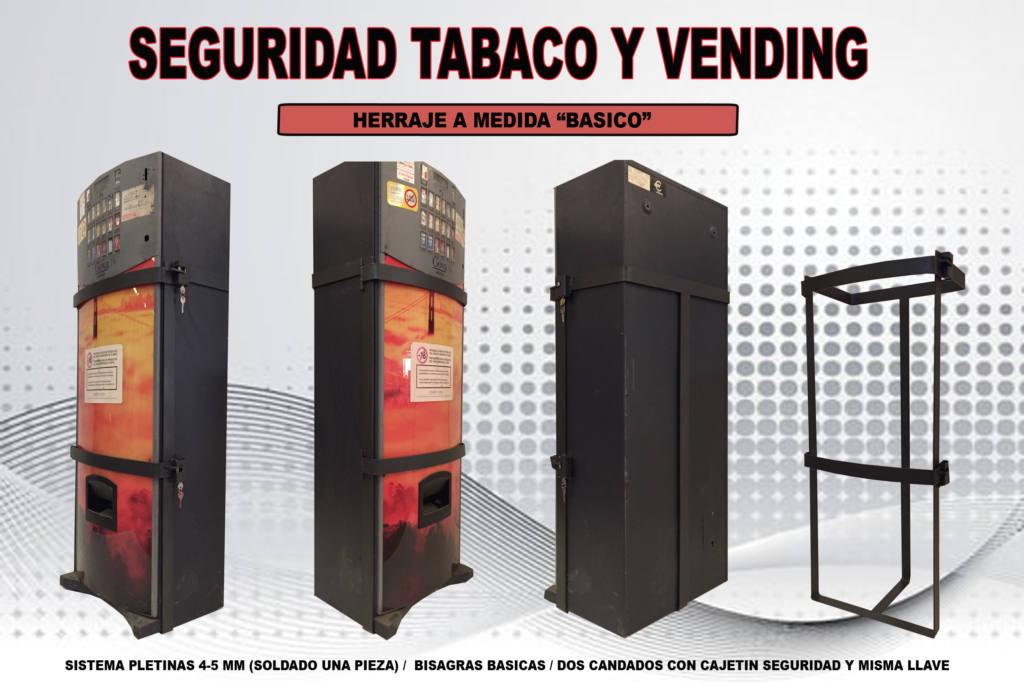Herraje de seguridad antirrobo para máquinas de tabaco y vending