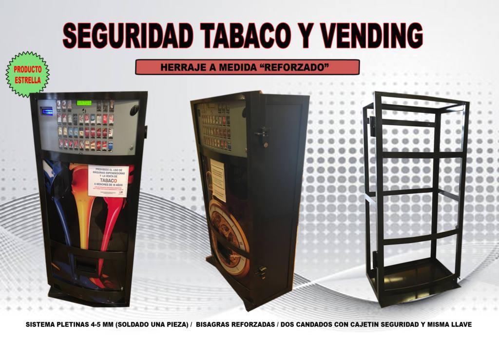 Herraje reforzado antirrobo para máquina de tabaco