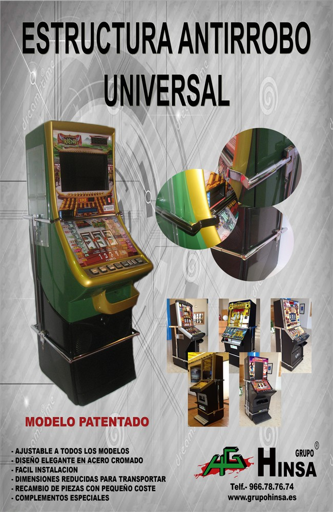 herraje universal antirrobo para maquinas recreativas