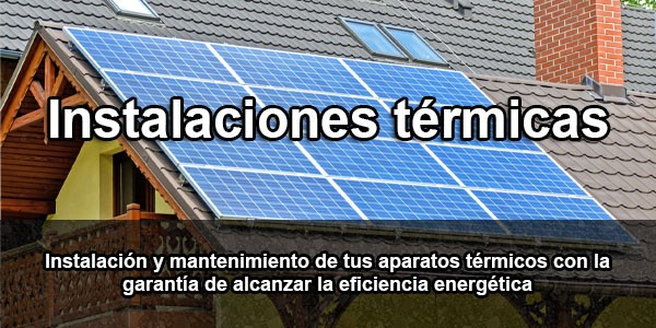 instalaciones térmicas y climatizacion